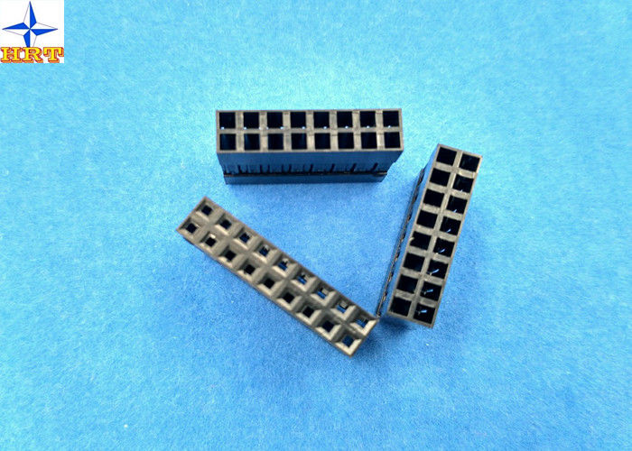 LVDS Connector 2.54mm Pitch Dual Rows Power Connectors PBT Material Without Nose